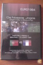 DVD do jogo Portugal-2 França-3 do euro 84