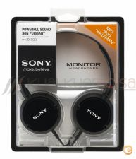 Auscultadores Fones Sony MDR-ZX100B Black Headset