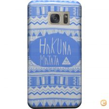 Capa mate Hakuna matata electric blue para Galaxy S6