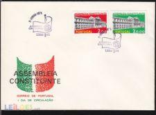 1975 - Assembleia Constituinte - FDC Lx-  AF 1253 - 1254