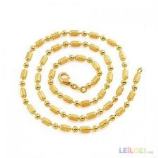 Fio com ouro novo contas 50cm x 3mm lindo gold filled saldos