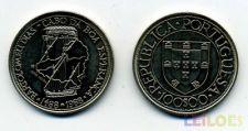 100 Escudos 1987 - BARTOLOMEU DIAS , CuNi , Descrobrimentos