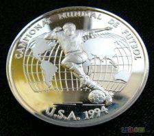 Andorra 10 diners 1993 Futebol KM# 86 Proof Prata