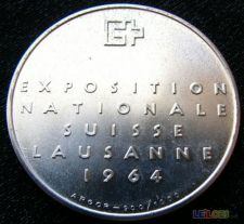 Medalha Suiça 1964 Prata