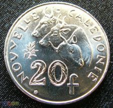 Nova Caledónia 20 francs 2003 KM# 9 UNC