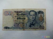 Nota circulada de 50 Baht da Tailândia