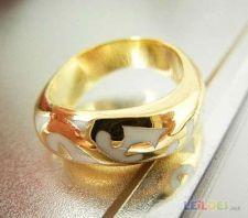 anel homem senhora com ouro gold filled tamanho 7 lindo 310