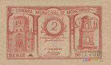 Cédulas municipais de Moncorvo (1 -2 e 4 cêntavos)