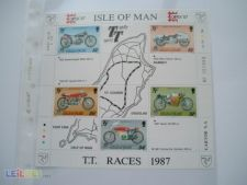 ISLE OF MAN - BLOCO  SCOTT 339A    NOVO - MOTOS