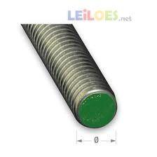 Varão roscado milimétrico 1000x6 mm Inox