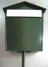Caixa correio tipo capela entrada frontal 37x30 cm Verde CEE