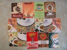 Lote 16 Calendários Marcas De Cafés Vários Anos