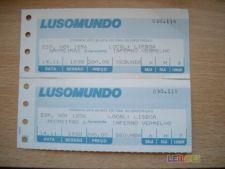 2 BILHETES CINEMA  AMOREIRAS 1988 - INFERNO VERMELHO