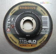 Disco rebarbar 115x6x22 mm Alpha Rhodius 2 unidades