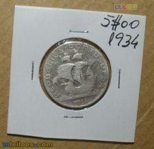 989 5$00 1934 prata rara