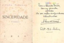 Silva Tavares - Sinceridade 1ª EDIÇÃO 1936 DEDICATÓRIA AUTOR