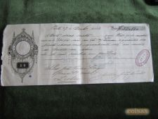 Letra Comercial 50 Rs D.Luis 1883