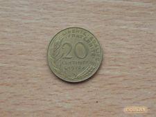 FRANÇA - 20 CENTIMES    1978  KM# 930