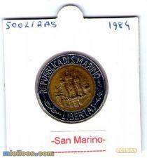 584 S.MARINO 500 LIRA 1984 ALBERT EINSTEN