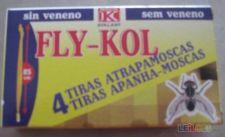 Tiras apanha-moscas 4 unidades sem veneno 85 cm Fly-Kol
