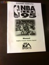 NBA LIVE 95 md xr Só o Manual