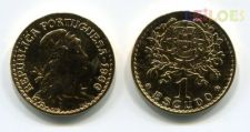 Portugal - 1 Escudo 1966 banhada em ouro