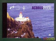 2008 - Carteira anual Açores com selos e Blocos