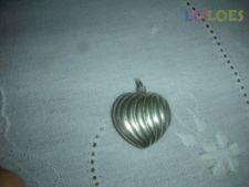 Coração em prata para fio