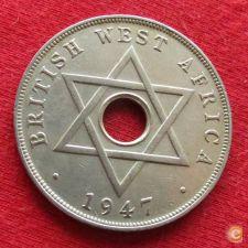 British West África Ocidental Oeste 1 penny 1947 H w