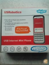 USB Internet Mini Phone Skype - USRobotics Model 9602 *NOVO*