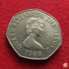 Jersey 50 pence 1986 KM# 58.1  *V1