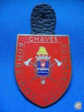 EMBLEMA CRACHA BOMBEIROS CHAVES 57mm