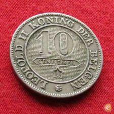 Bélgica 10 centimes 1895 Der Belgen