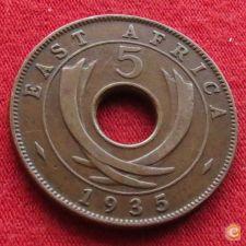 África Oriental East 5 cents 1935 KM# 18
