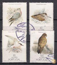1988 - Aves dos Açores - Usados - AF 1859 - 1862