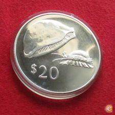 Fiji  20 $ 1978 cowrie Prata