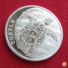 Niue 2 dollars 2017 Tartaruga Prata 999 1 oz UNC