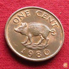 Bermuda Bermudas 1 cent 1980 KM# 15    *V