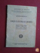 REGULAMENTO DOS SERVIÇOS DE ASSISTÊNCIA AOS EMIGRANTES-1930