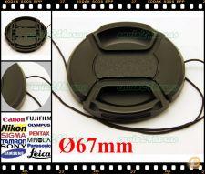 Tampa de proteção universal para lentes Ø 67mm