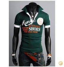 **EM STOCK** T-shirt Polo Homem praia festa noite -Tam S