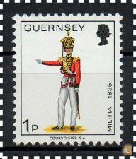 GUERNSEY -  SCOTT 96 **  UNIFORMES - 1974