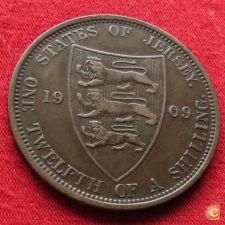 Jersey 1/12 shilling 1909 KM# 10 w