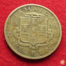 Jamaica 1 penny 1938  w