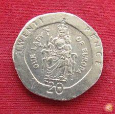Gibraltar 20 pence 2003 AA KM# 777   *V1