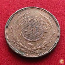 Uruguai Uruguay 40 centesimos 1857 w