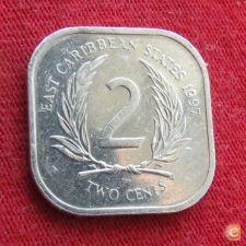 Caraibas 2 cents 1997 KM# 11     *V