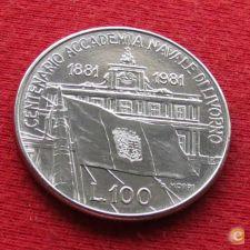 Itália Italy 100 lire 1981 KM#108 Academia maritima    *V