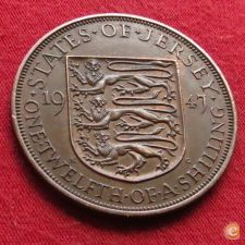 Jersey 1/12 shilling 1947 KM# 18   *V