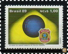 BRASIL - RHM 1656 **  25 ANOS DA POLÍCIA FEDERAL - 1989